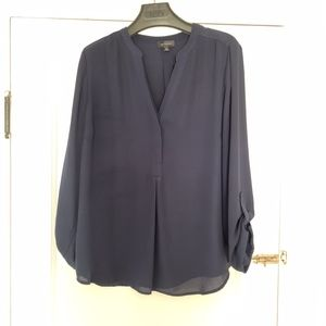 The Limited - Top / Blouse - Navy Blue